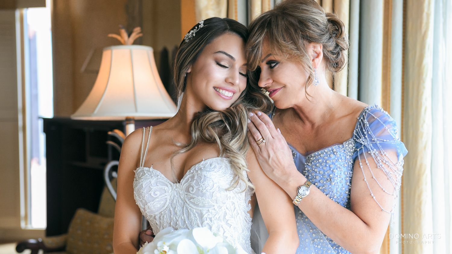 Unique Bride and mom pictures at Boca Raton Resort