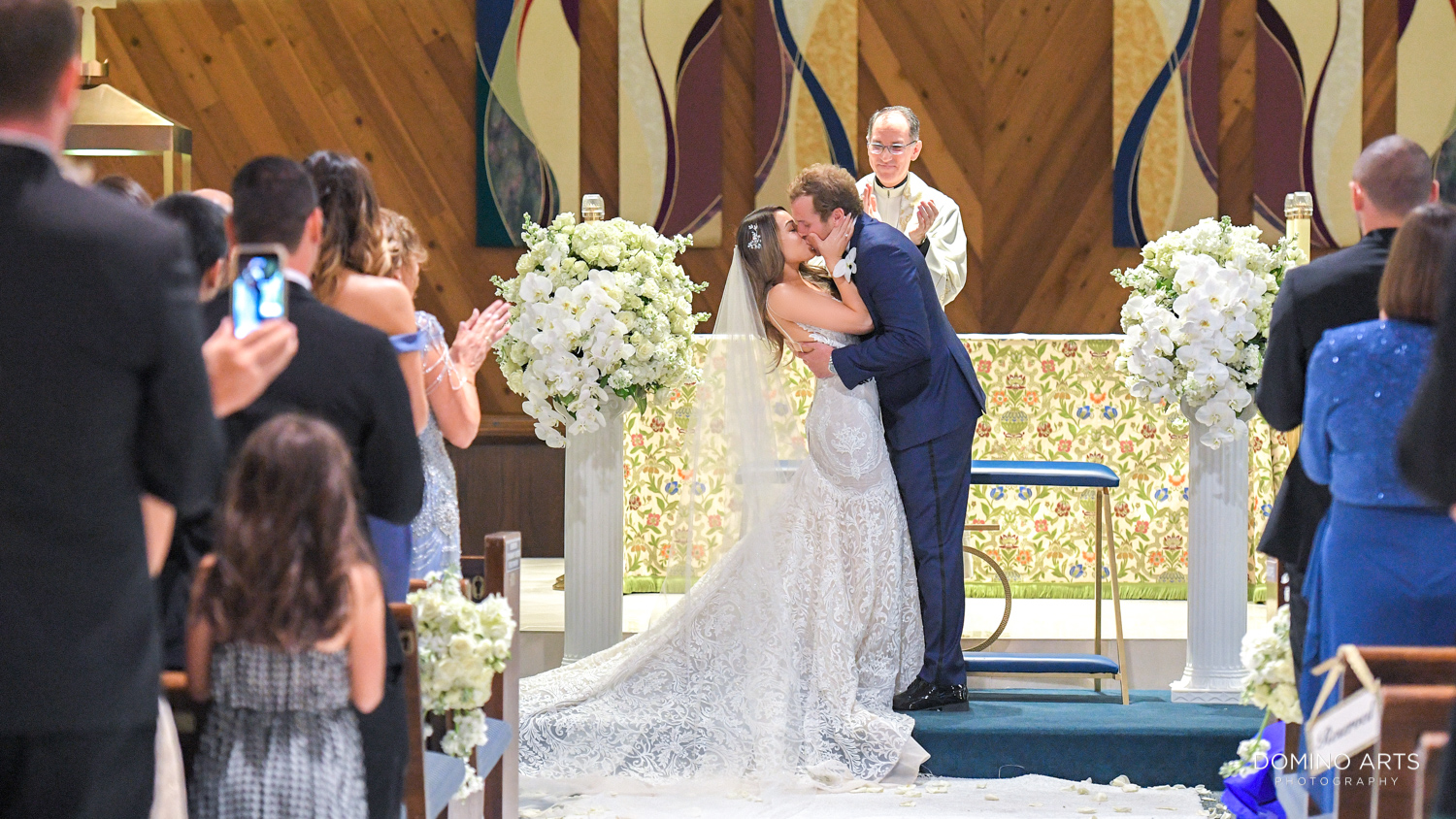 Wedding ceremony at Ascension Catholic Church