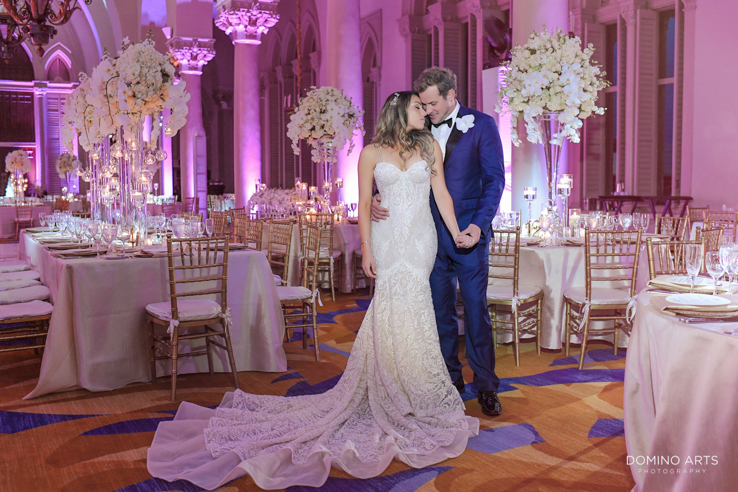 Elegant Luxury boutique wedding décor at Boca Raton Resort