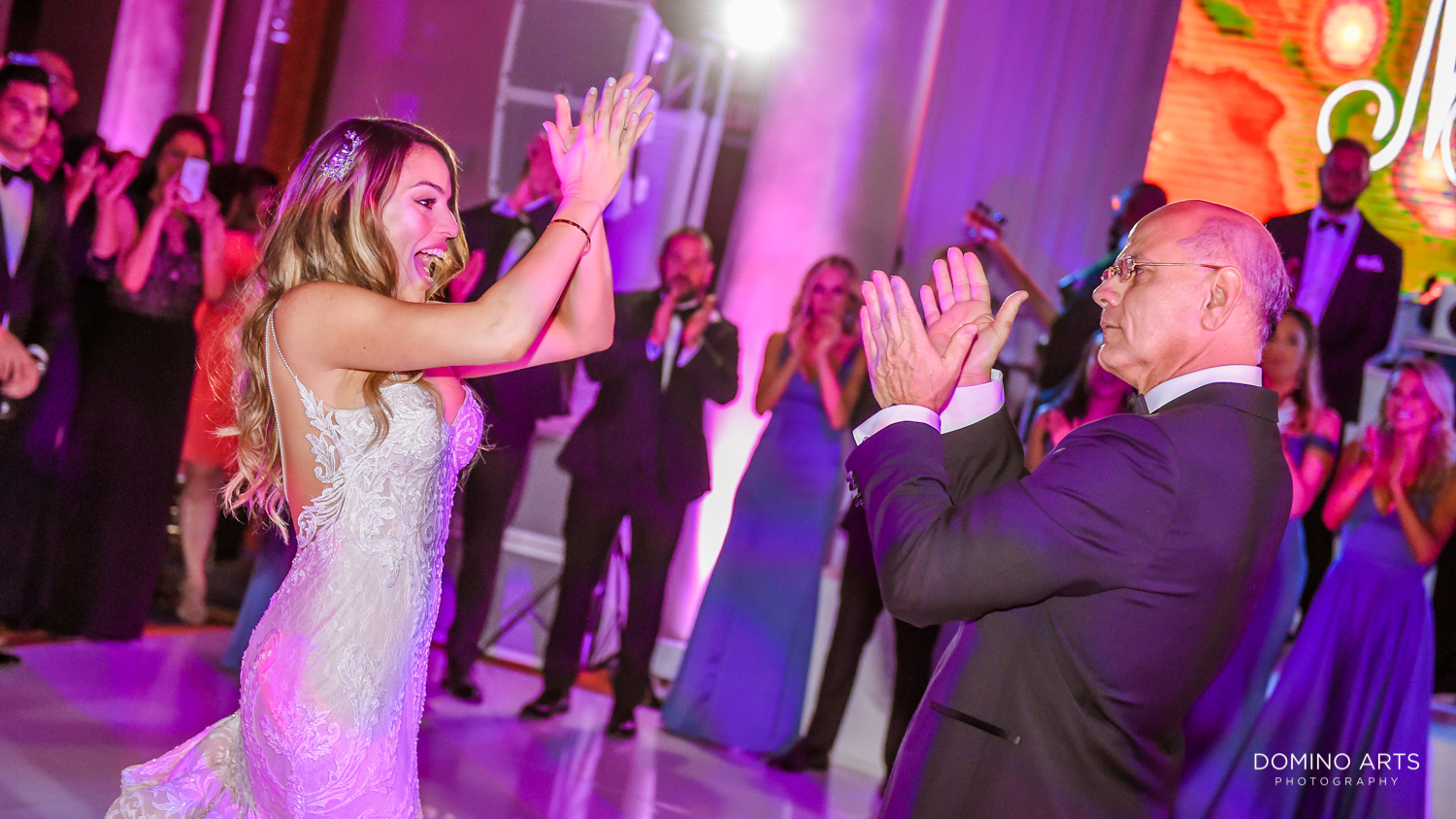 Father and daughter wedding dance at Boca Raton Resort
