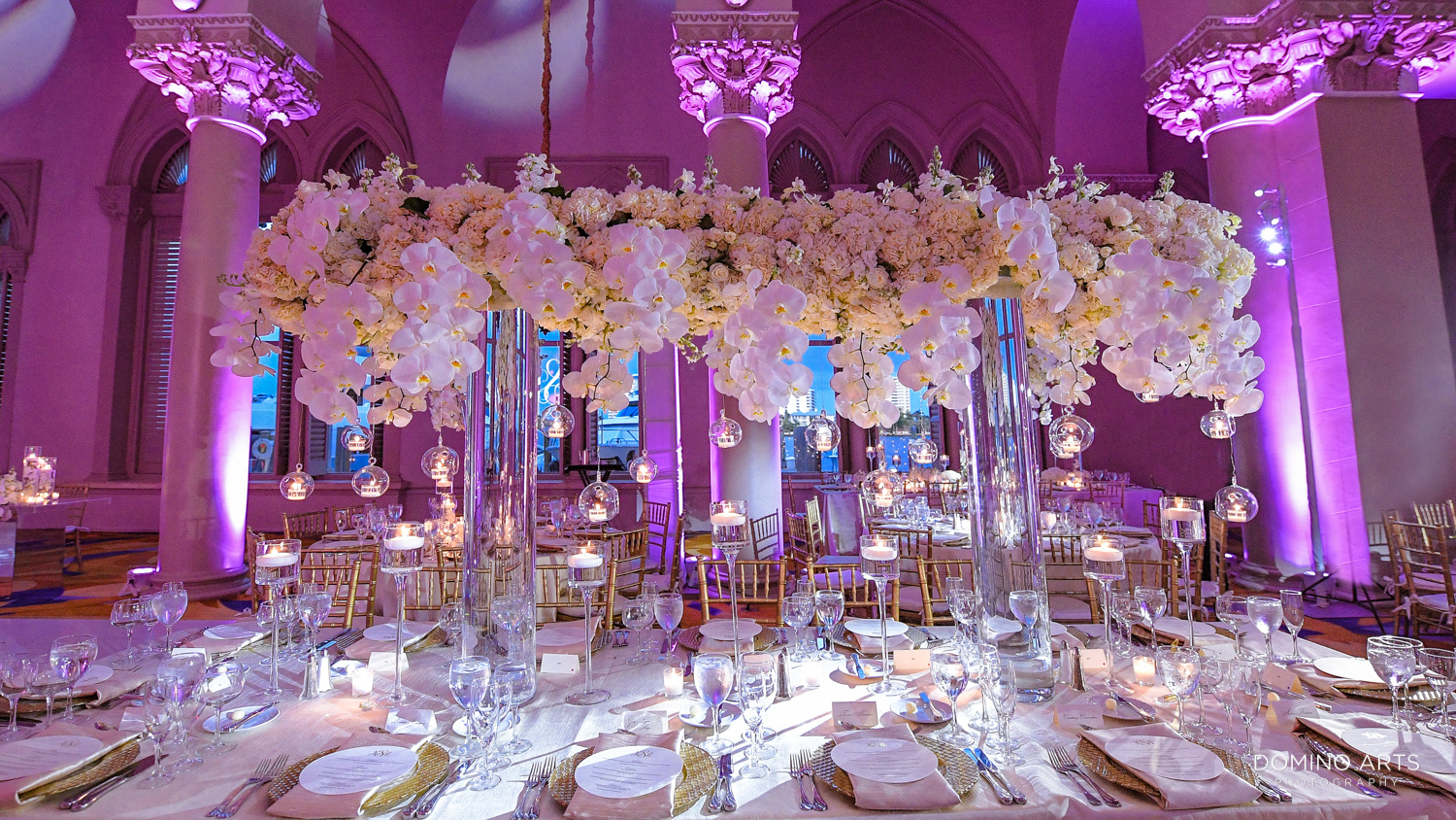 Luxury wedding décor at Boca Raton Resort