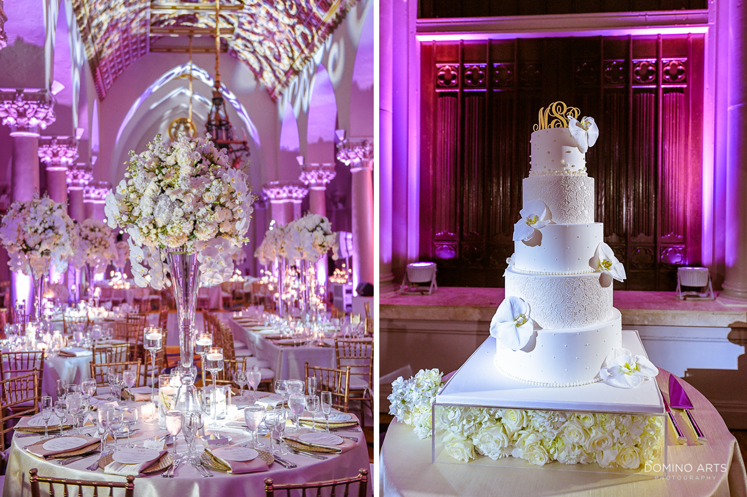 Wedding cake picture in contemporary and elegant design at Boca Raton Resort