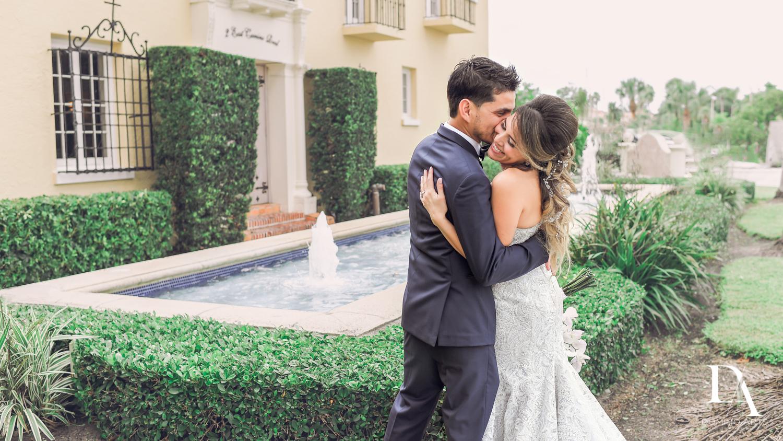 Romantic bride and groom picture at The Addison Boca Raton