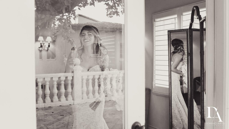 Artistic wedding picture of bride at The Addison Boca Raton