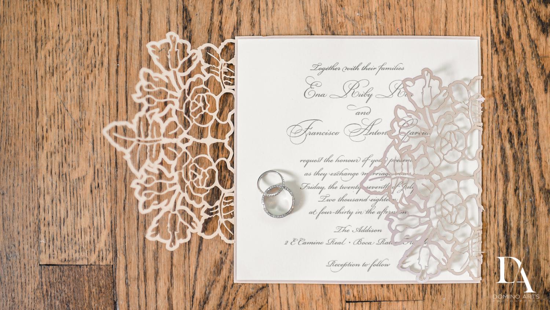 Wedding invitation picture at The Addison Boca Raton