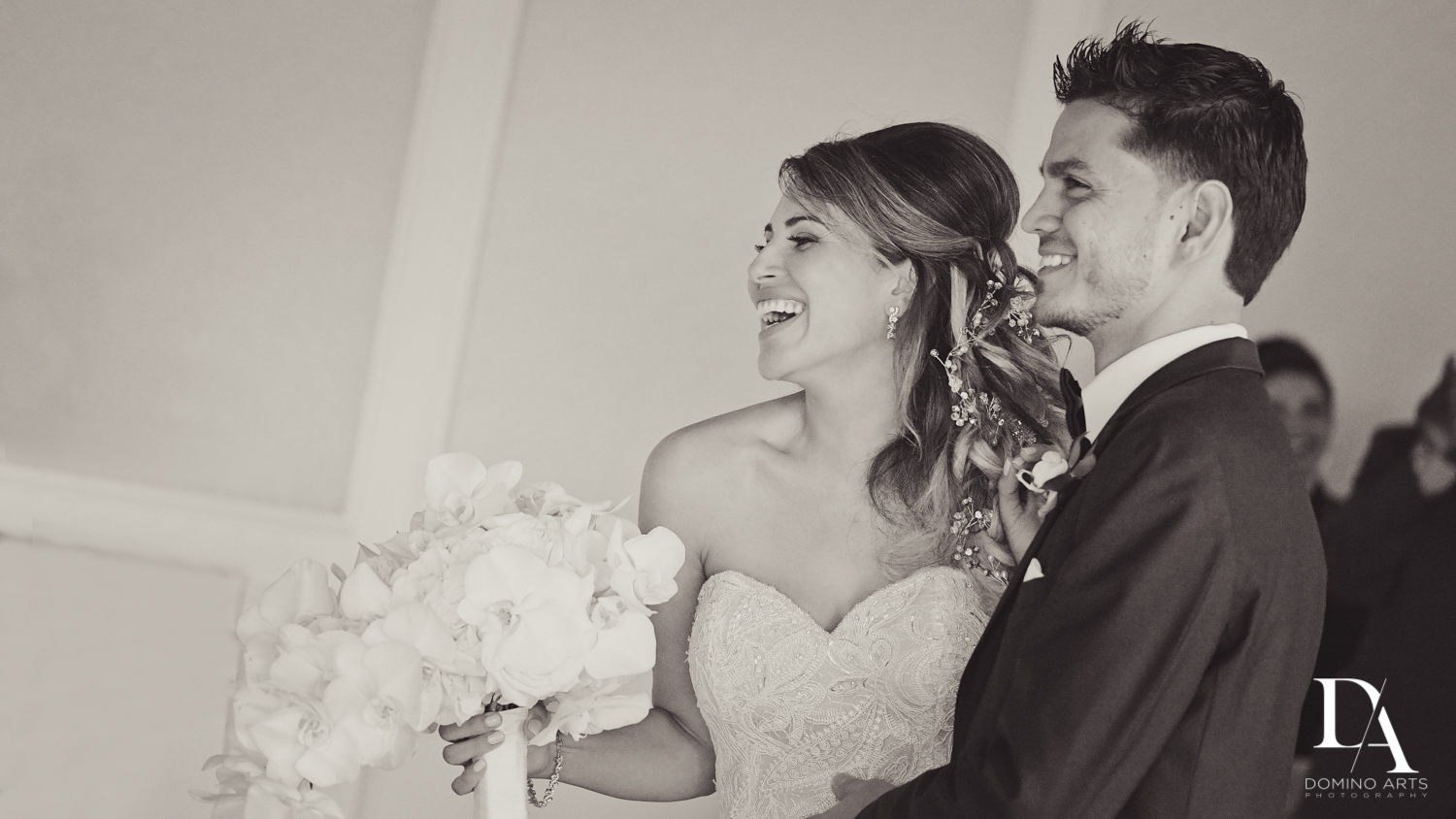 Lifestyle wedding picture of bride and groom at The Addison Boca Raton wedding photography