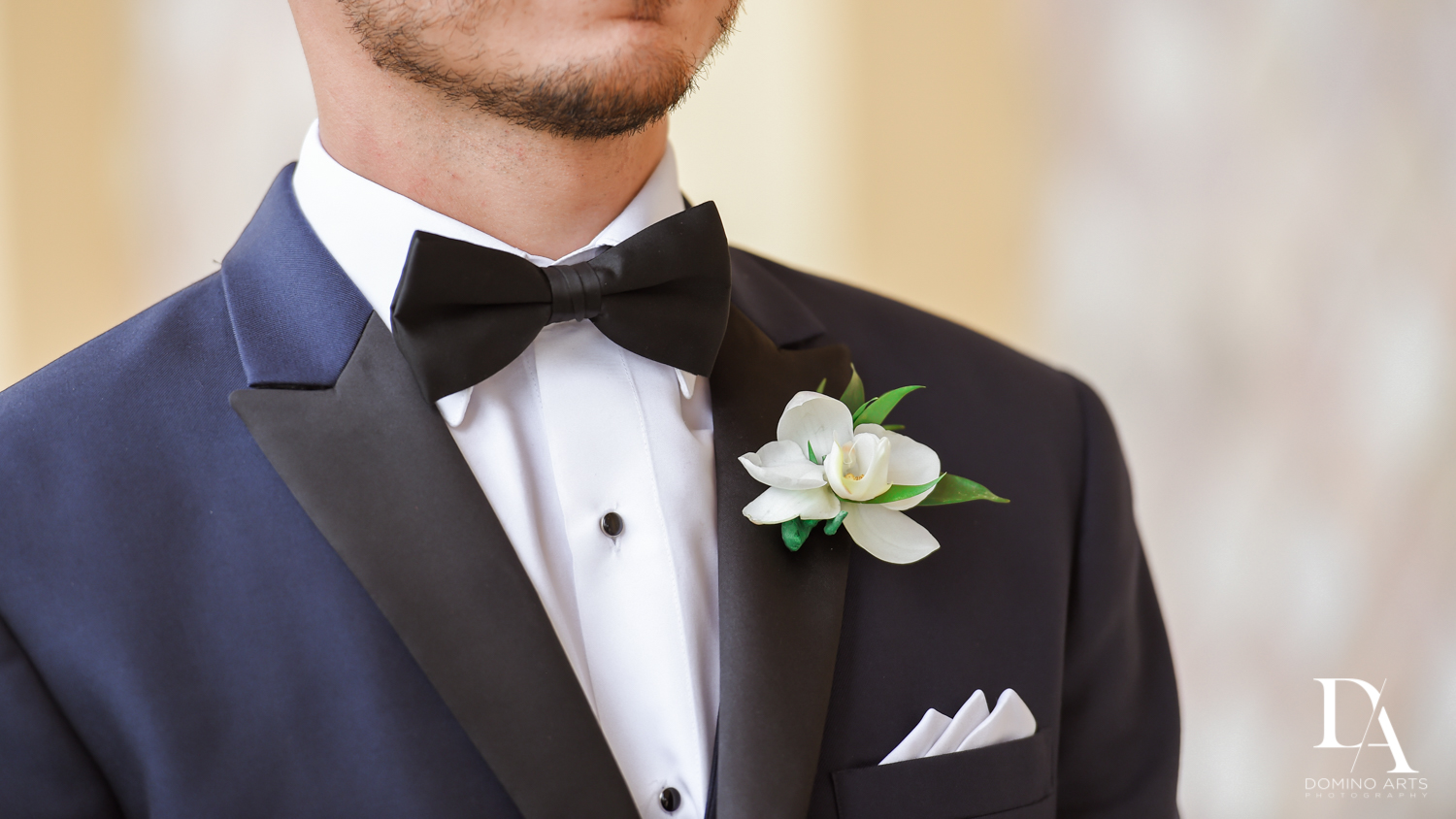 Groom's boutonniere at The Addison Boca Raton