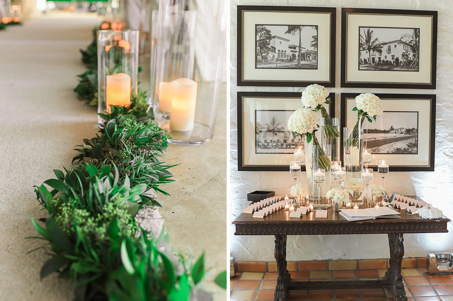 Wedding ceremony décor pictures at The Addison Boca Raton