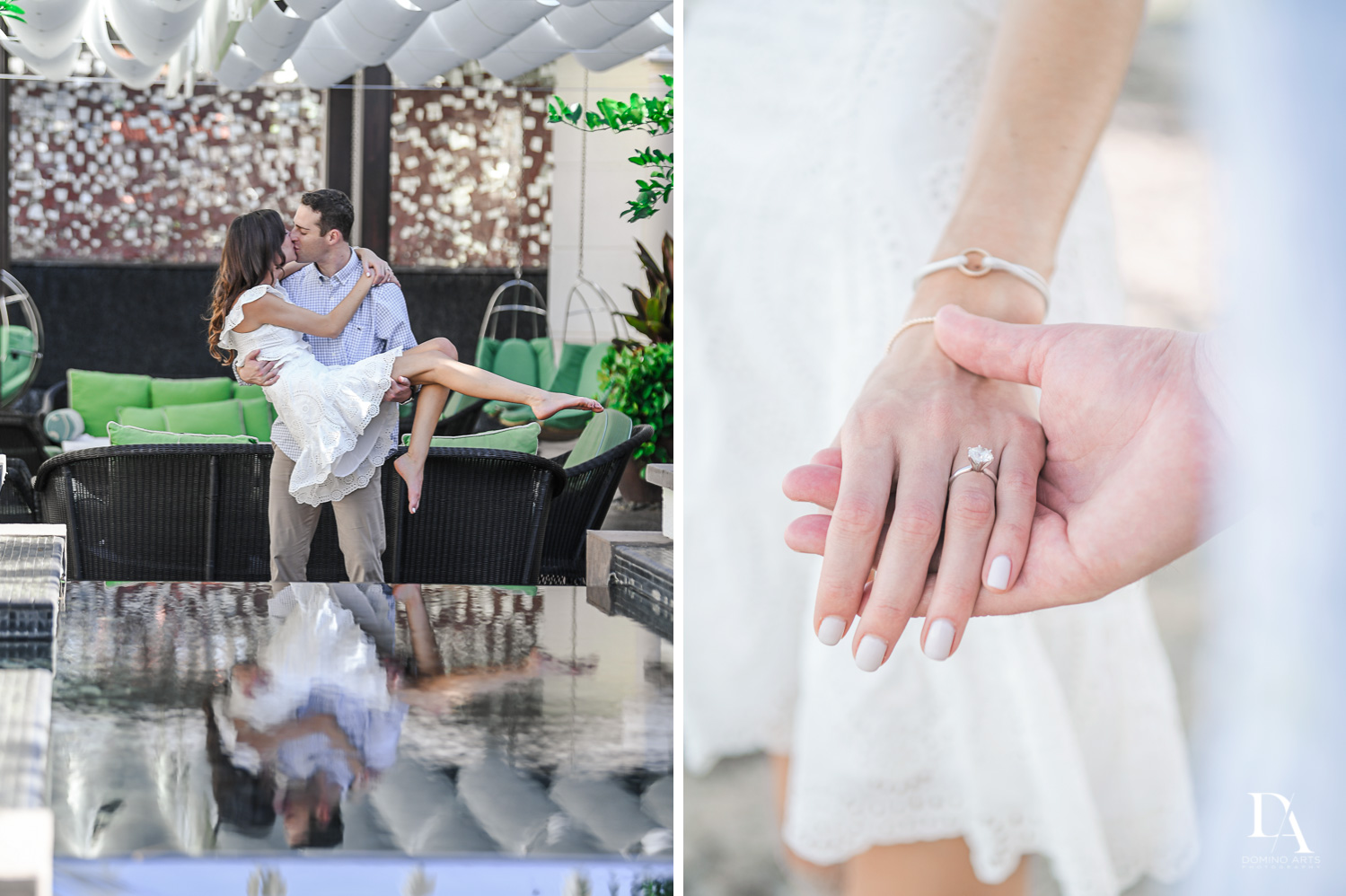 Beach-side Engagement at Eau Palm Beach Resort & Spa by Domino Arts Photography