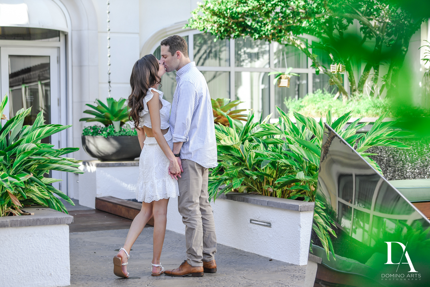 Beach-side Engagement Photography at Eau Palm Beach Resort & Spa by Domino Arts Photography