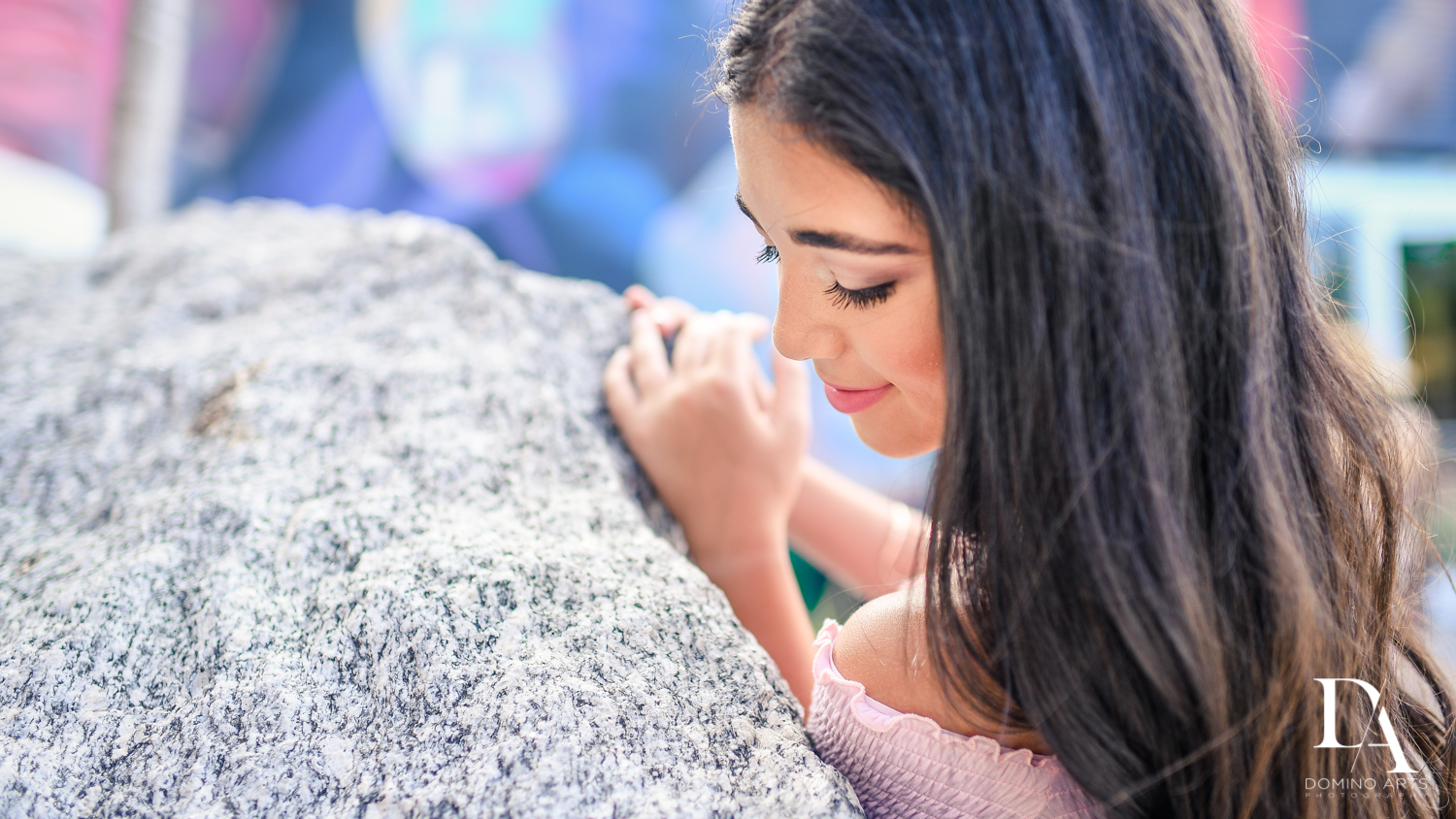 Beautiful Pre Bat Mitzvah Photography at Wynwood Walls by Domino Arts Photography