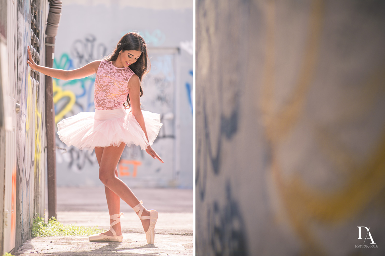 Ballerina Pre Bat Mitzvah Photography at Wynwood Walls by Domino Arts Photography