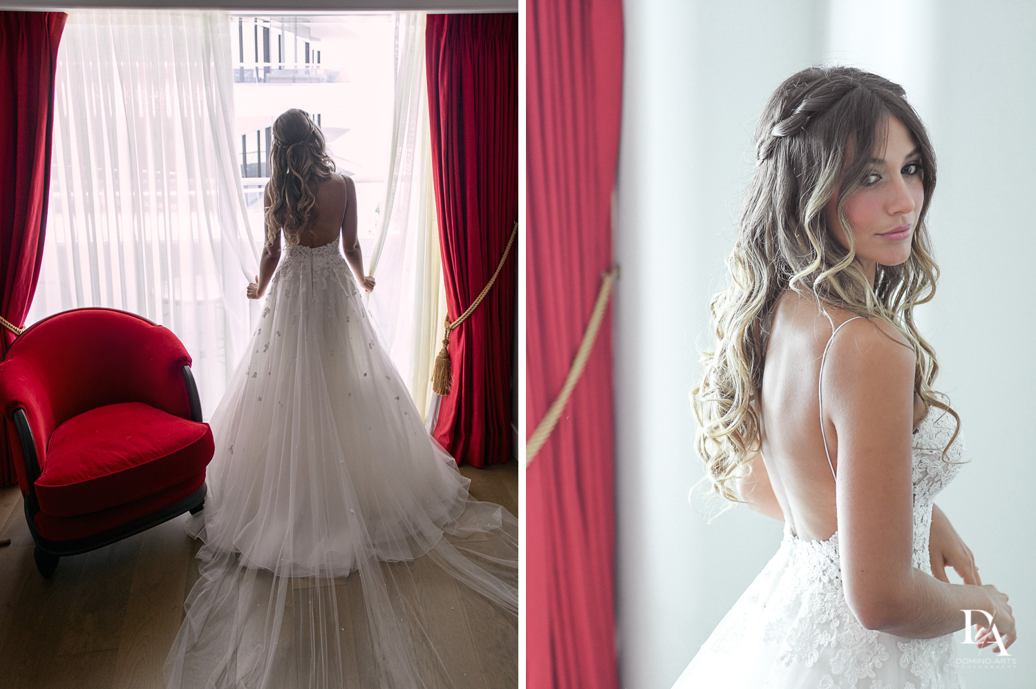 Bride getting ready picture at Faena Hotel Miami Beach