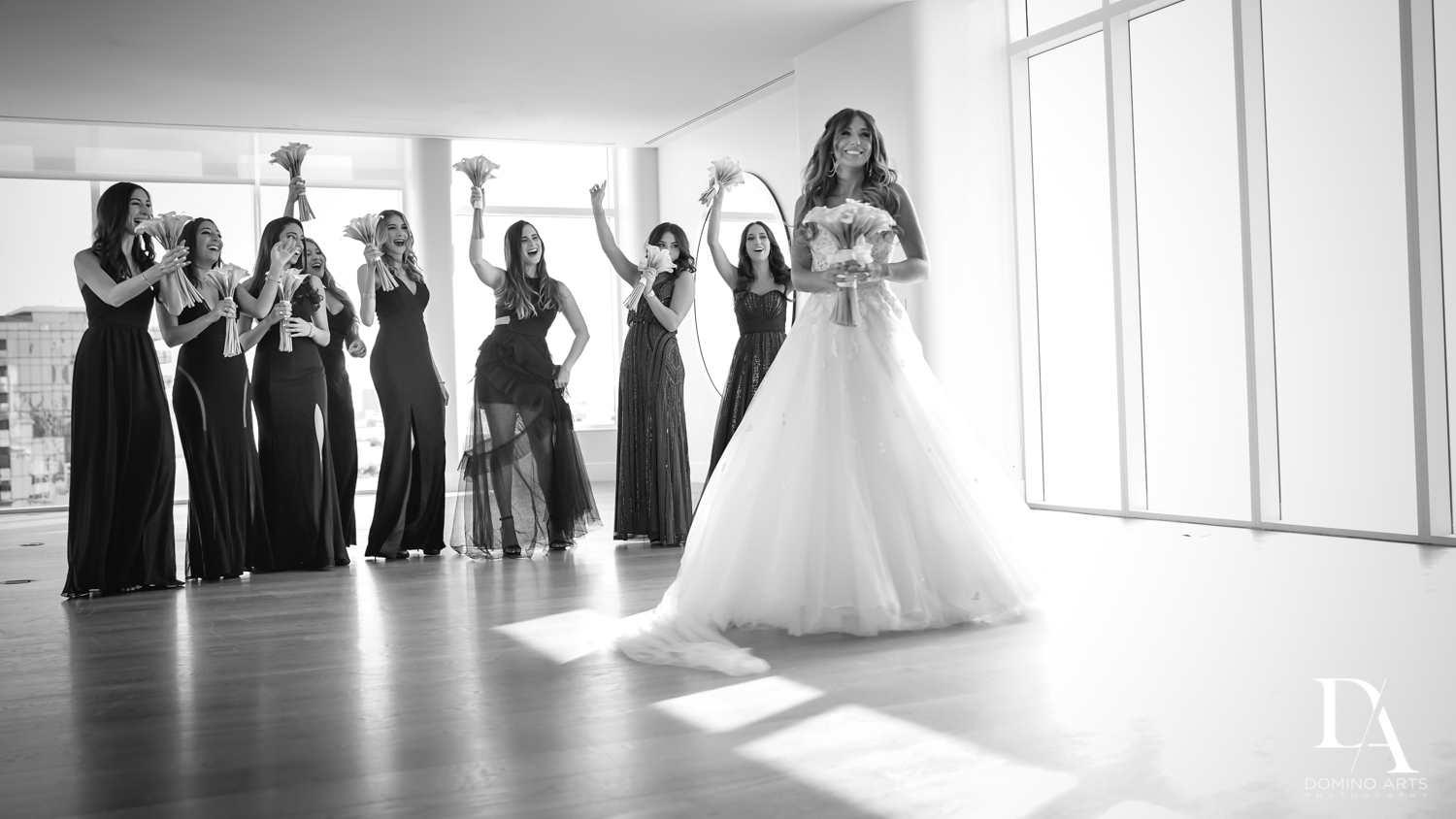 Fun bridesmaid pictures at Faena Hotel Miami Beach