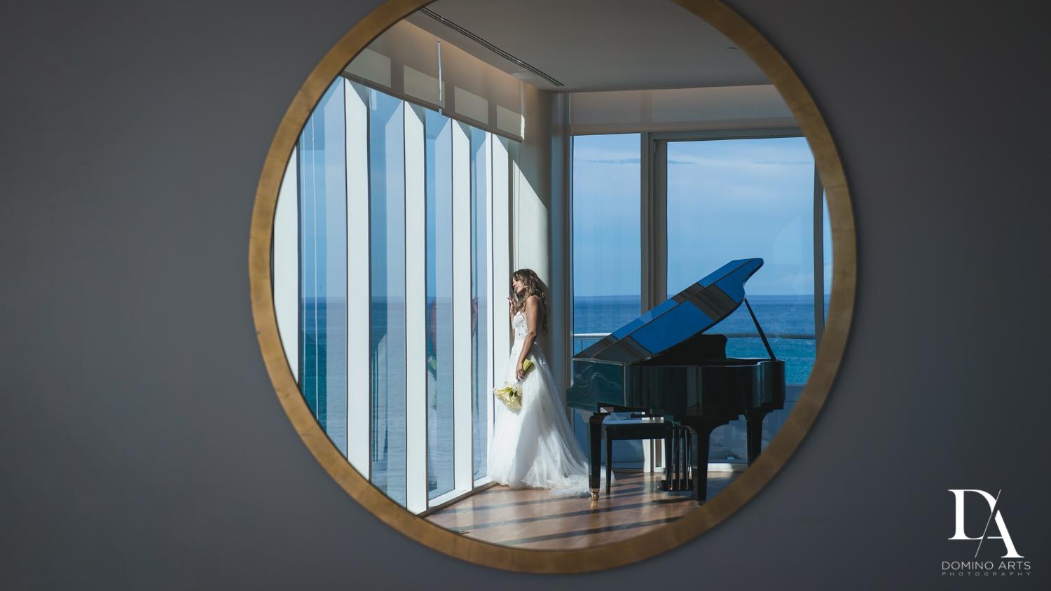 Romantic bride picture at Faena Hotel Miami Beach