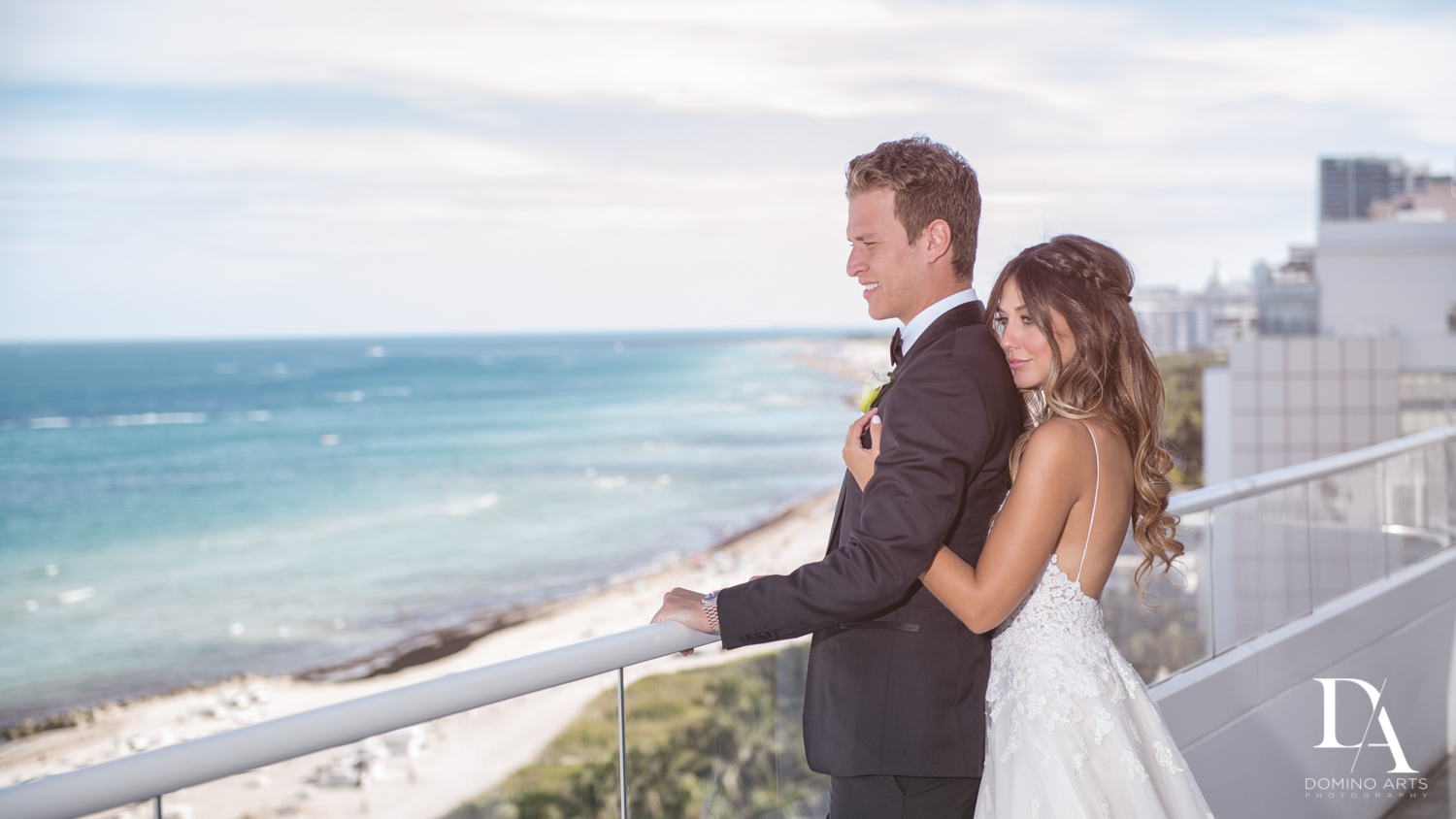 Romantic bride and groom picture at Faena Hotel Miami Beach