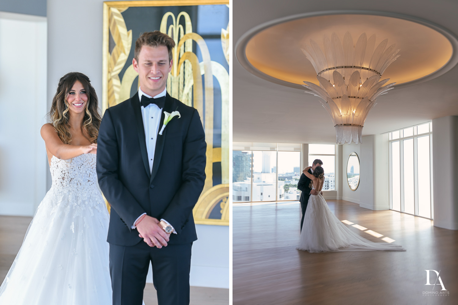 First look of bride and groom pictures at Faena Hotel Miami Beach
