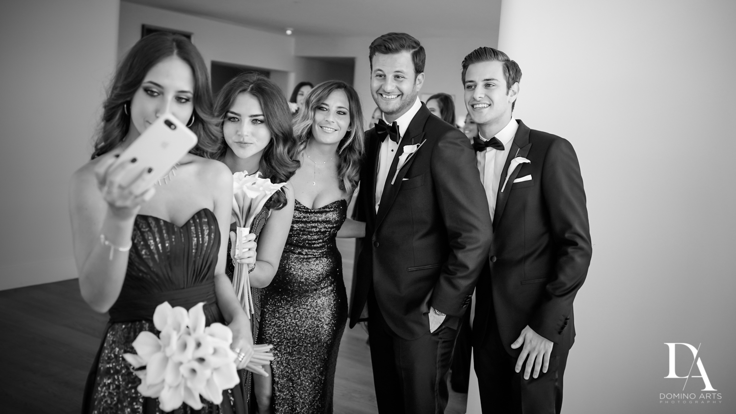 Fun wedding party pictures at Faena Hotel Miami Beach