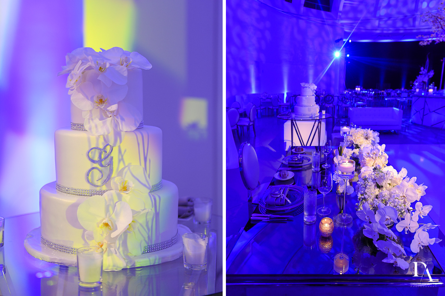 Wedding cake picture in contemporary and elegant design at Faena Hotel Miami Beach