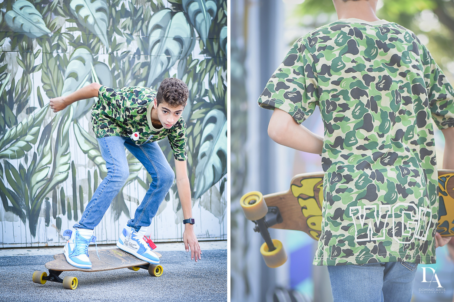 Skateboarding Pre Bar Mitzvah Photography at Wynwood Walls by Domino Arts Photography