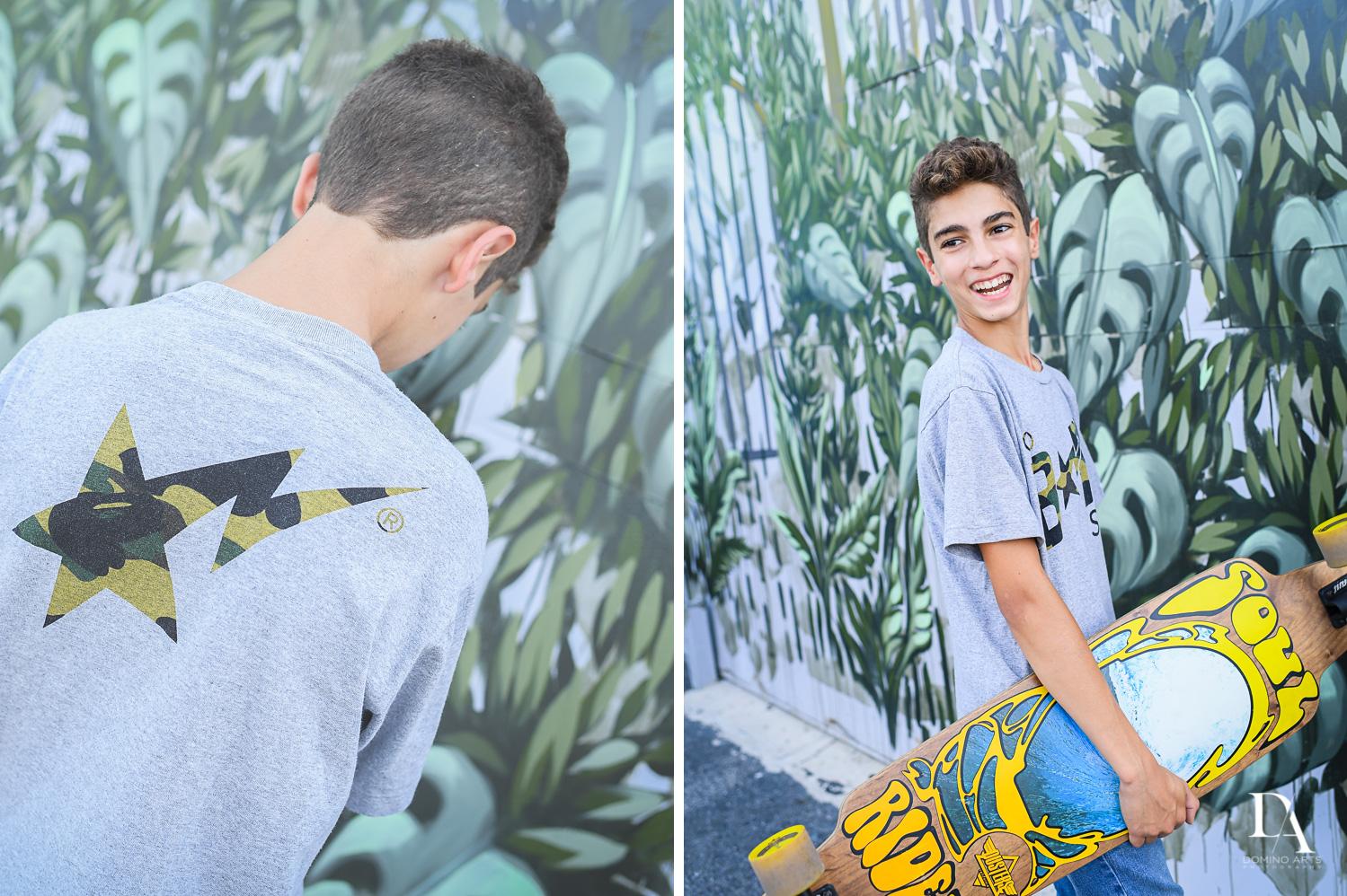 Graffiti Walls Bar Mitzvah Photography at Wynwood Walls by Domino Arts Photography