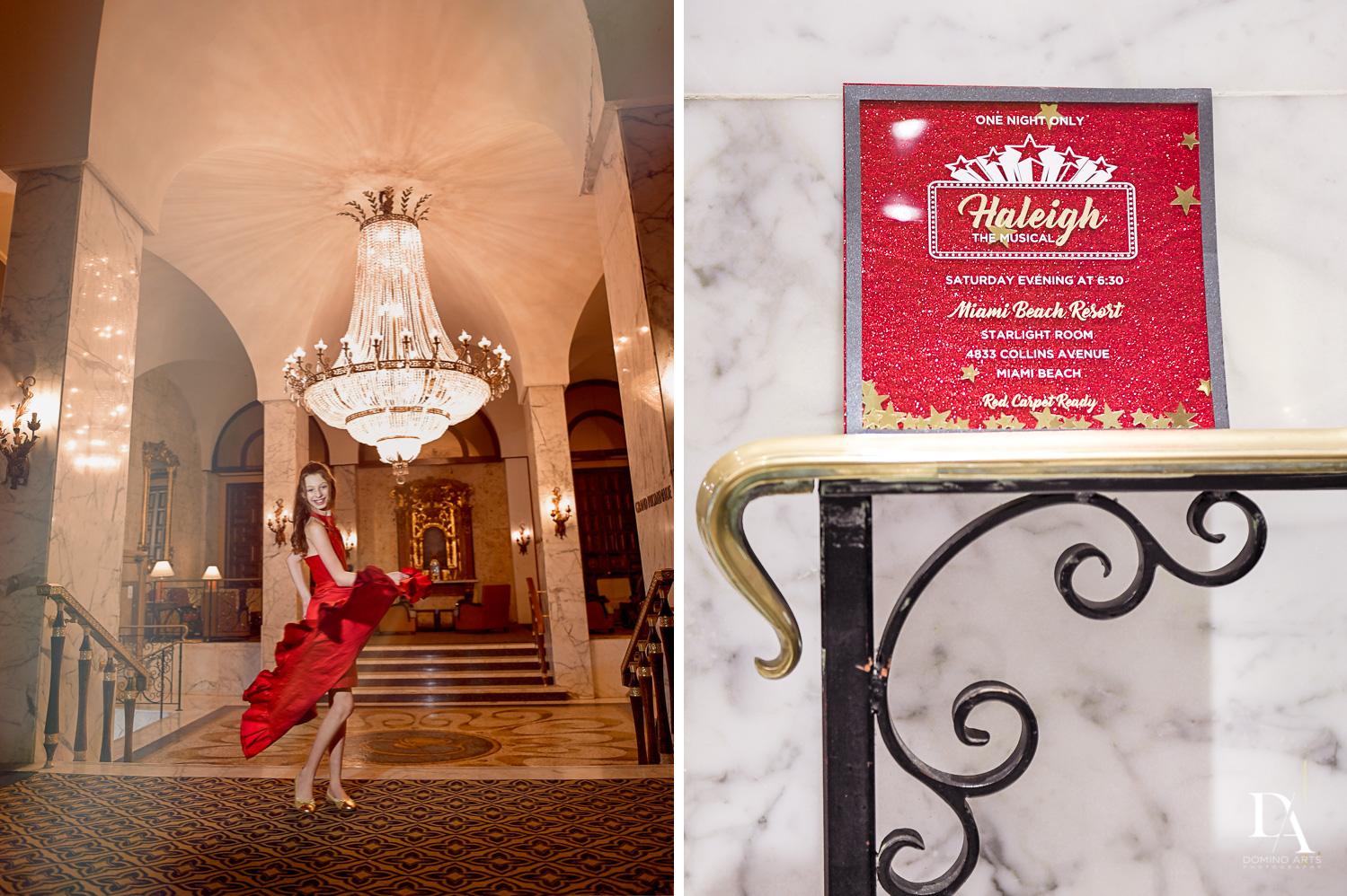 Broadway Theme Mitzvah Photography at Miami Beach Resort
