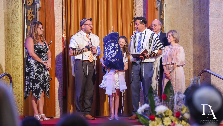 Family at Aventura Turnberry Jewish Center Bat Mitzvah