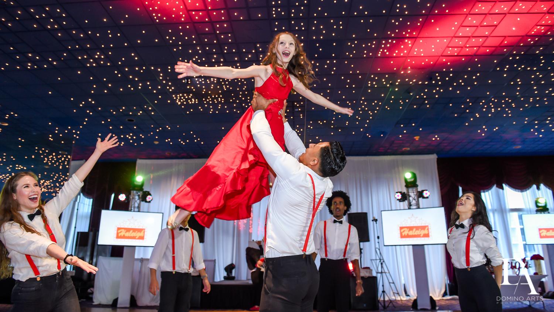 Rock With U Best Entertainment at Broadway Theme Bat Mitzvah Photography at Miami Beach Resort