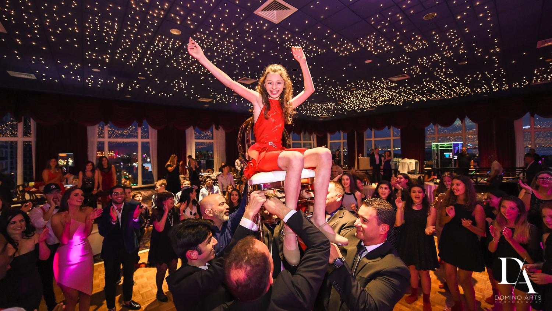 Fun Hora pictures at Broadway Theme Bat Mitzvah Photography at Miami Beach Resort