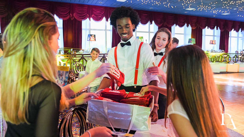 Party favors at Broadway Theme Bat Mitzvah Photography at Miami Beach Resort