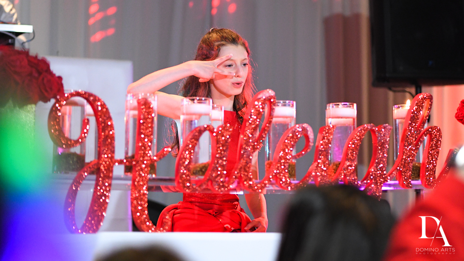 Fun party pictures at Broadway Theme Bat Mitzvah Photography at Miami Beach Resort
