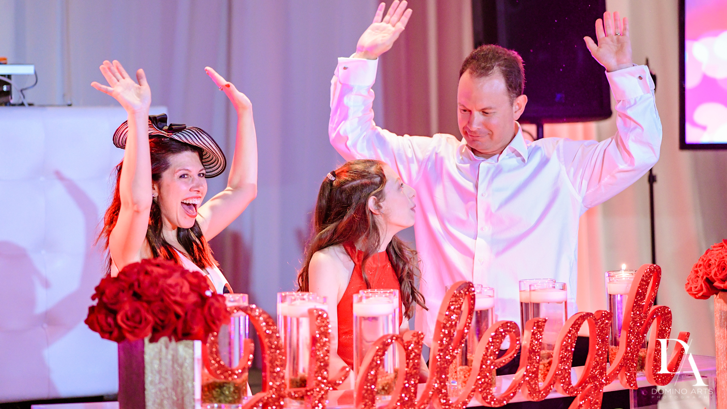 Fun candlelight ceremony at miami mitzvah
