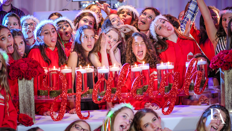 Fun kids pictures at Mitzvah candelighting
