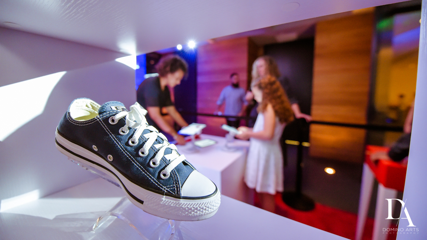 Design your own Shoes at Nike sneaker theme mitzvah photography at the basement in the Edition Miami by Domino Arts