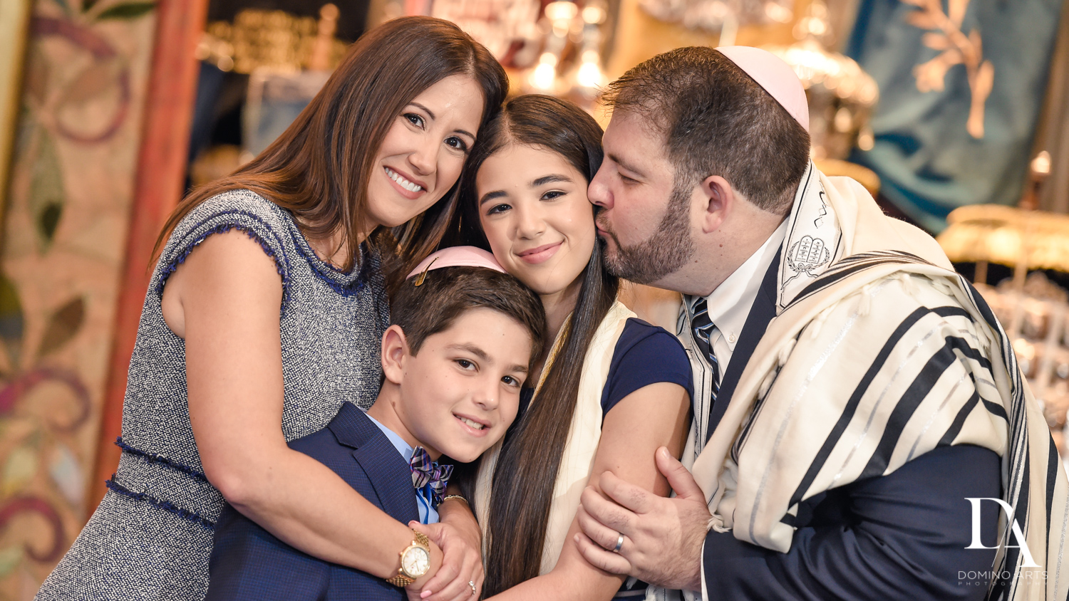 Lifestyle family photography at Temple Bnai Torah Mitzvah by Domino Arts Photography