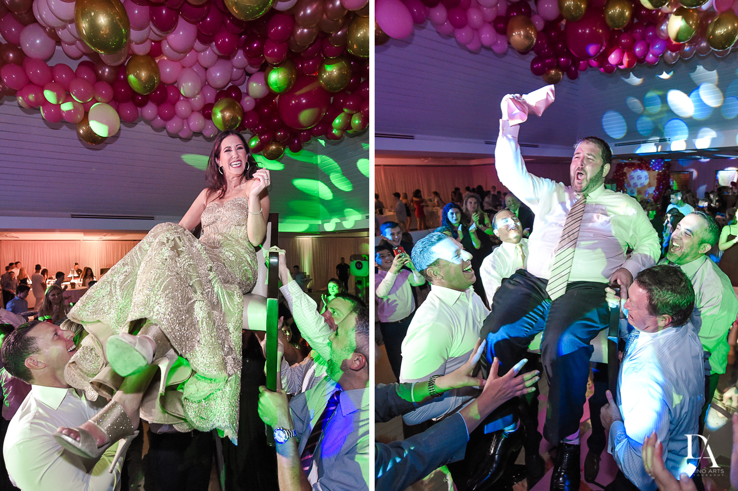 Fun hora pictures at Bar Mitzvah at Saint Andrews Country Club South Florida by Domino Arts Photography