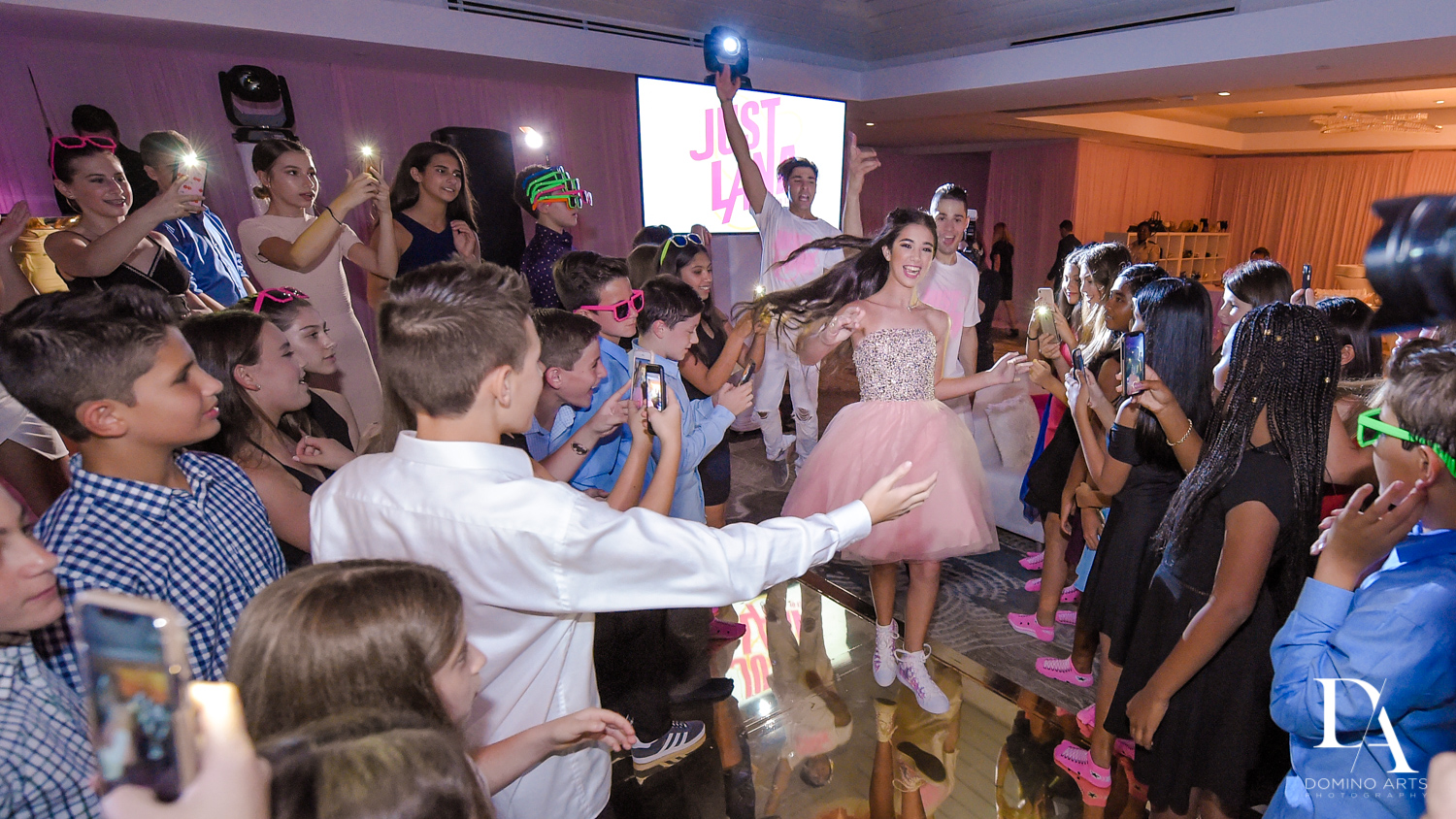 Best party pictures at Bat Mitzvah at Saint Andrews Country Club South Florida by Domino Arts Photography