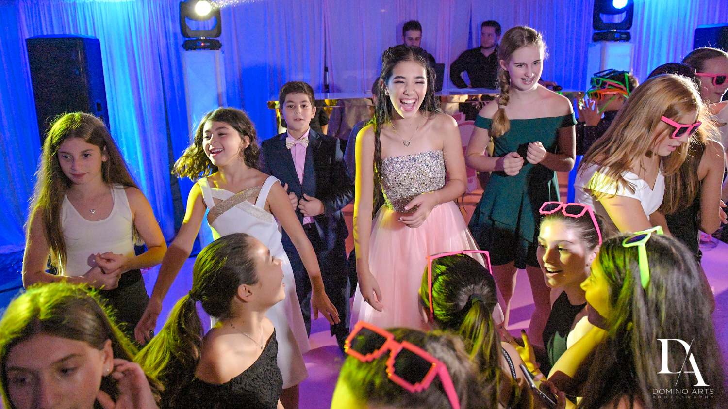 Fun party pictures at Bat Mitzvah at Saint Andrews Country Club South Florida by Domino Arts Photography