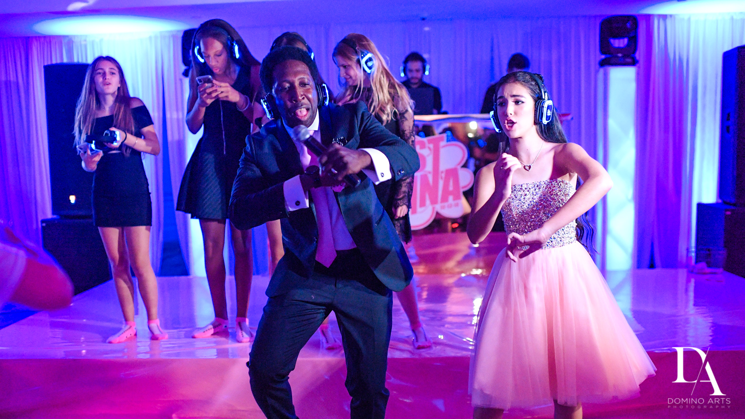 Triple P Entertainment Silent party fun pictures at Bat Mitzvah at Saint Andrews Country Club South Florida by Domino Arts Photography