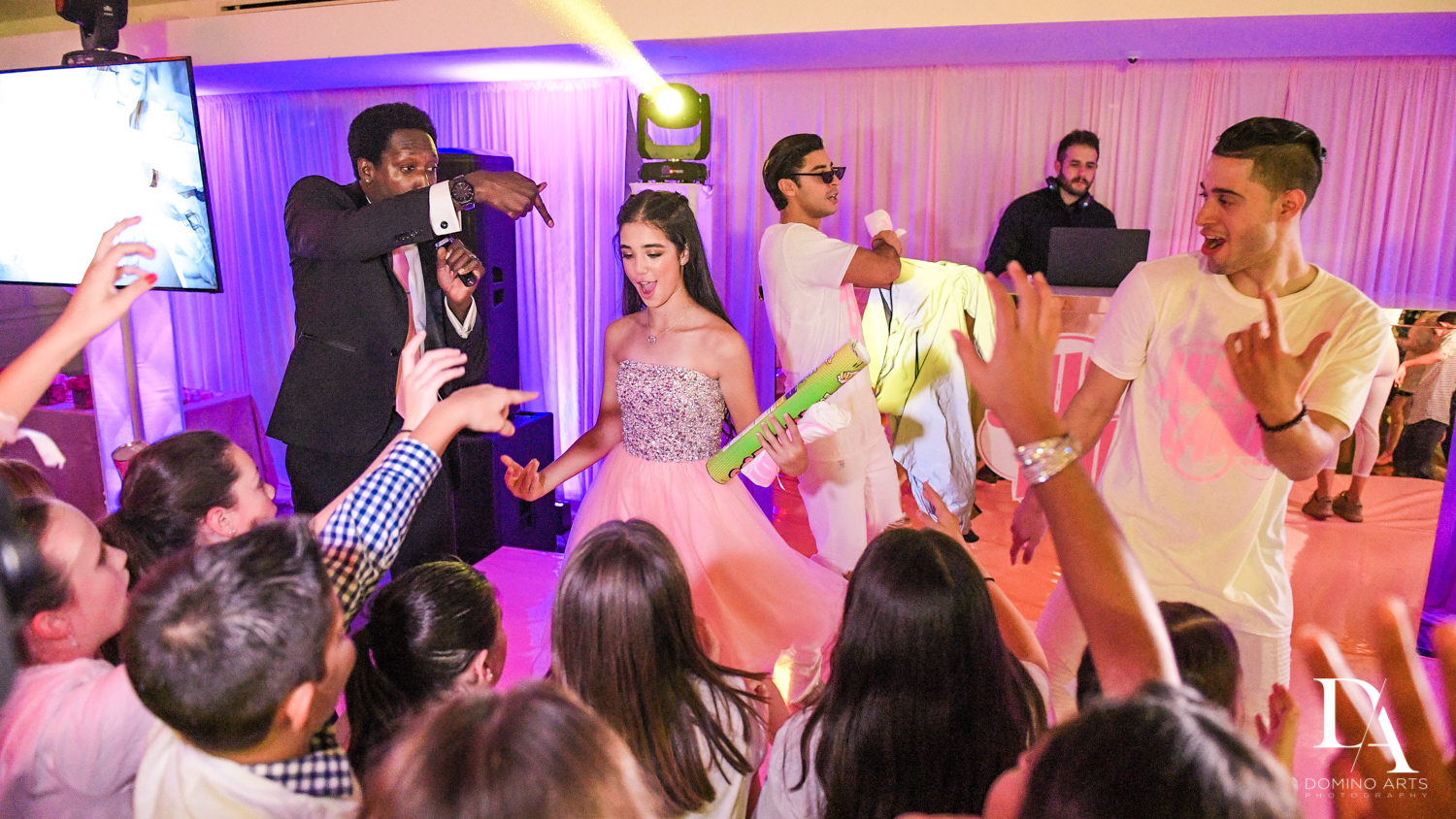 Triple P Entertainment at Bat Mitzvah at Saint Andrews Country Club South Florida by Domino Arts Photography