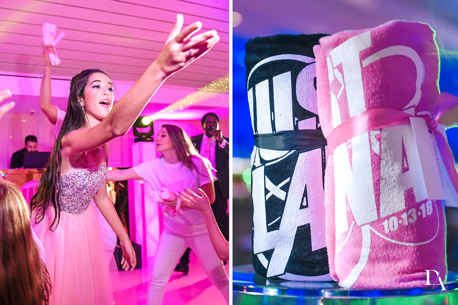 Fun gifts at Bat Mitzvah at Saint Andrews Country Club South Florida by Domino Arts Photography