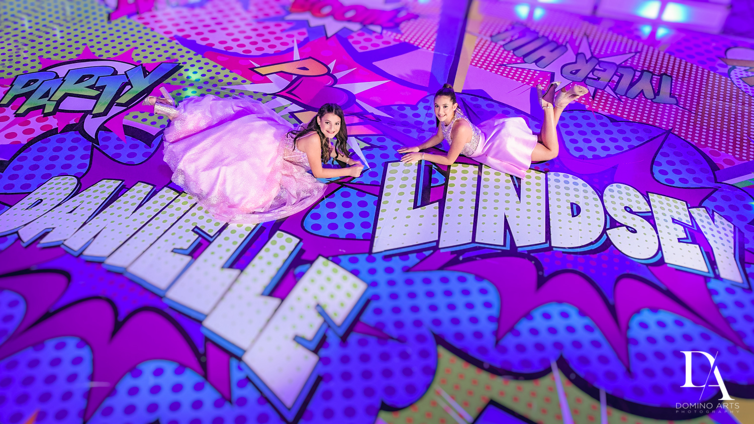 Pop art bnot mitzvah pictures by domino arts photography