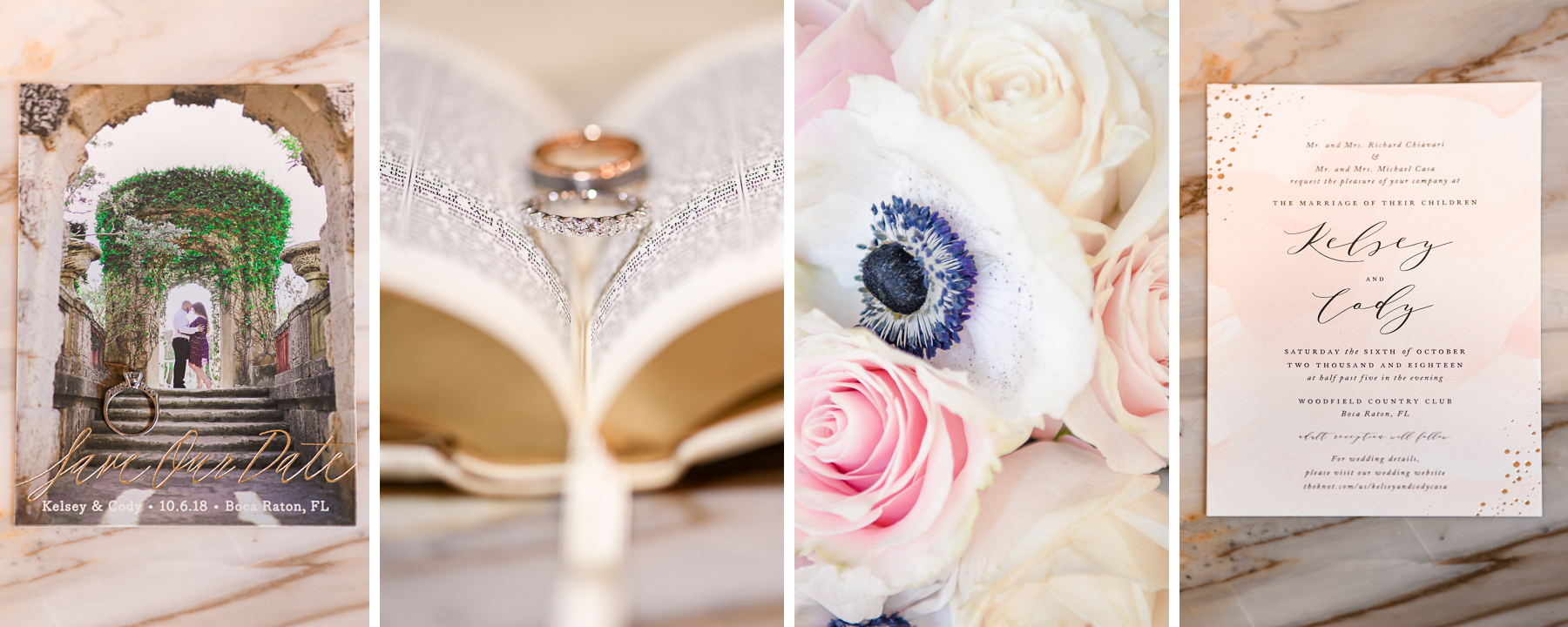 Beautiful details at Romantic Outdoors Wedding at Woodfield Country Club in Boca Raton, Florida