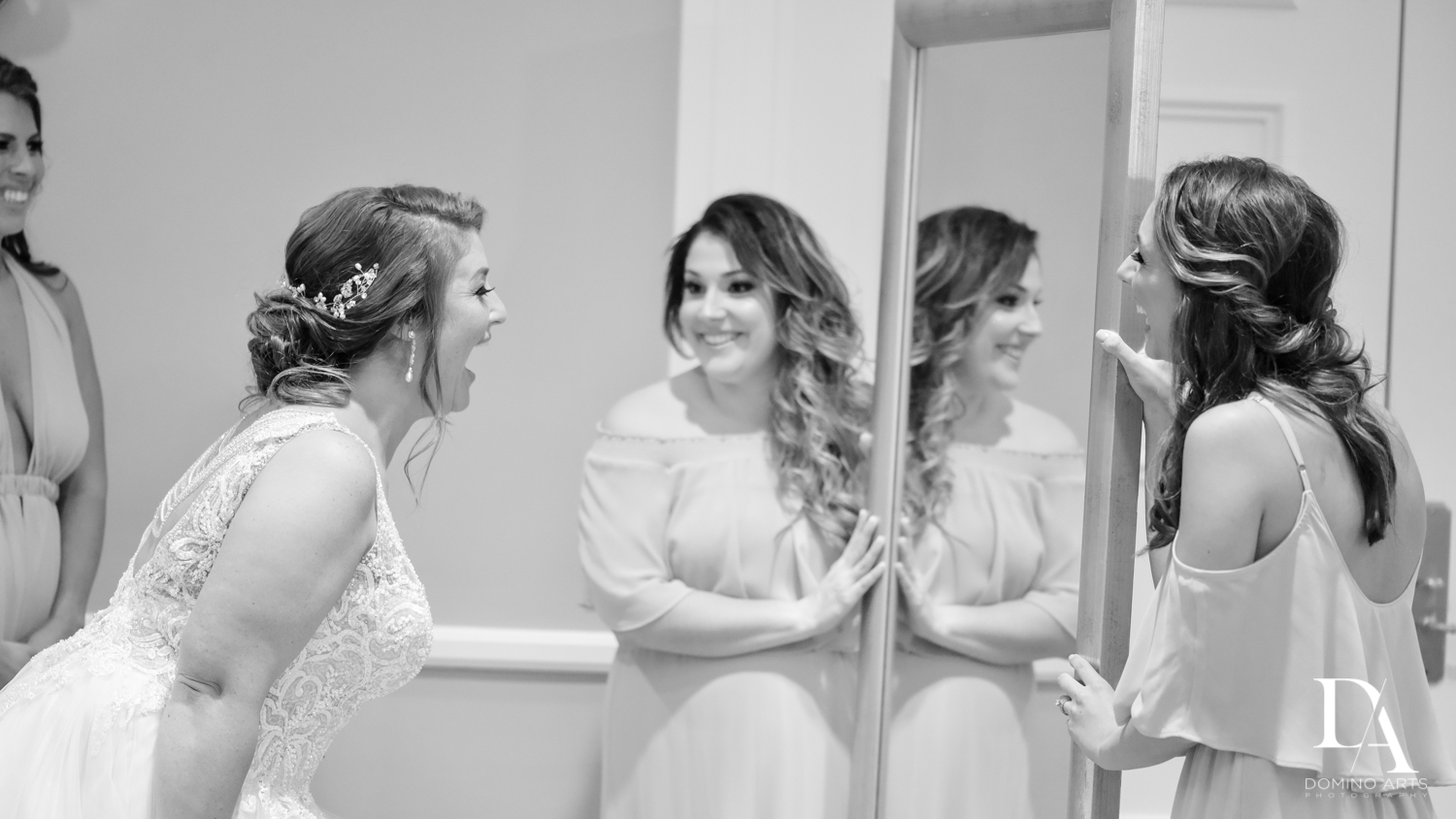 Bride getting ready at Romantic Outdoors Wedding at Woodfield Country Club in Boca Raton, Florida