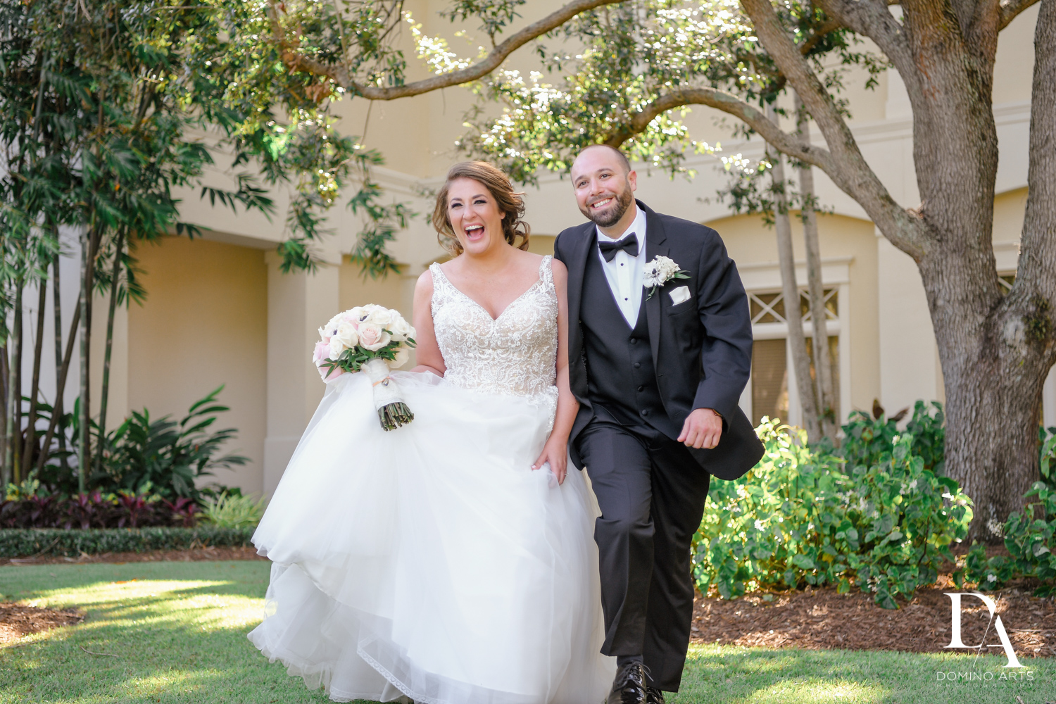 Candid photos at Romantic Outdoors Wedding at Woodfield Country Club in Boca Raton, Florida