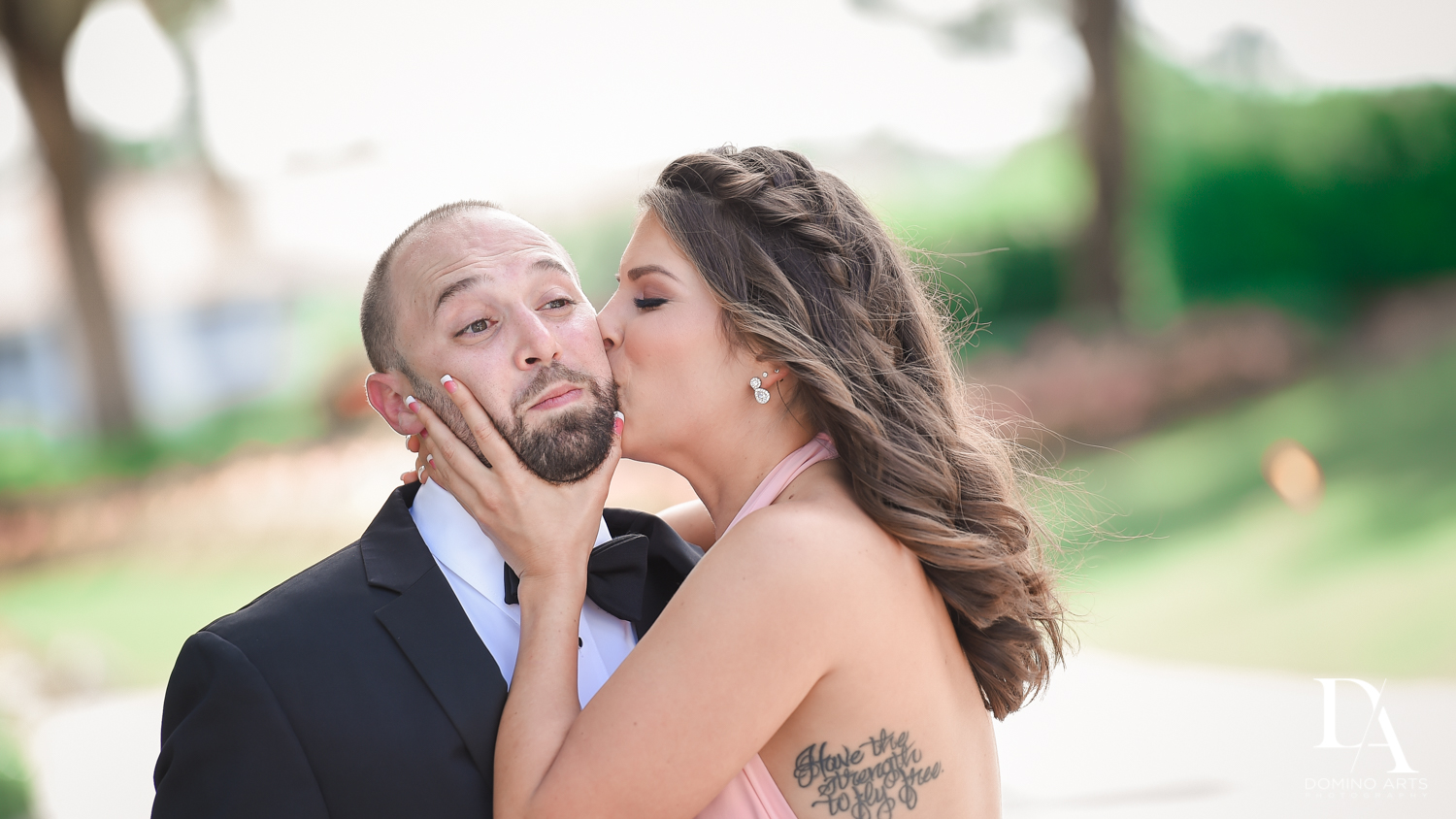 Fun candid photos at Romantic Outdoors Wedding at Woodfield Country Club in Boca Raton, Florida