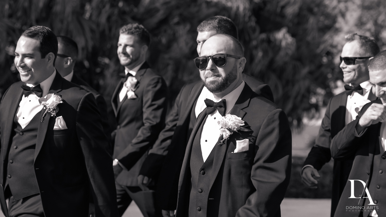 Groomsmen at Romantic Outdoors Wedding at Woodfield Country Club in Boca Raton, Florida by Domino Arts Photography