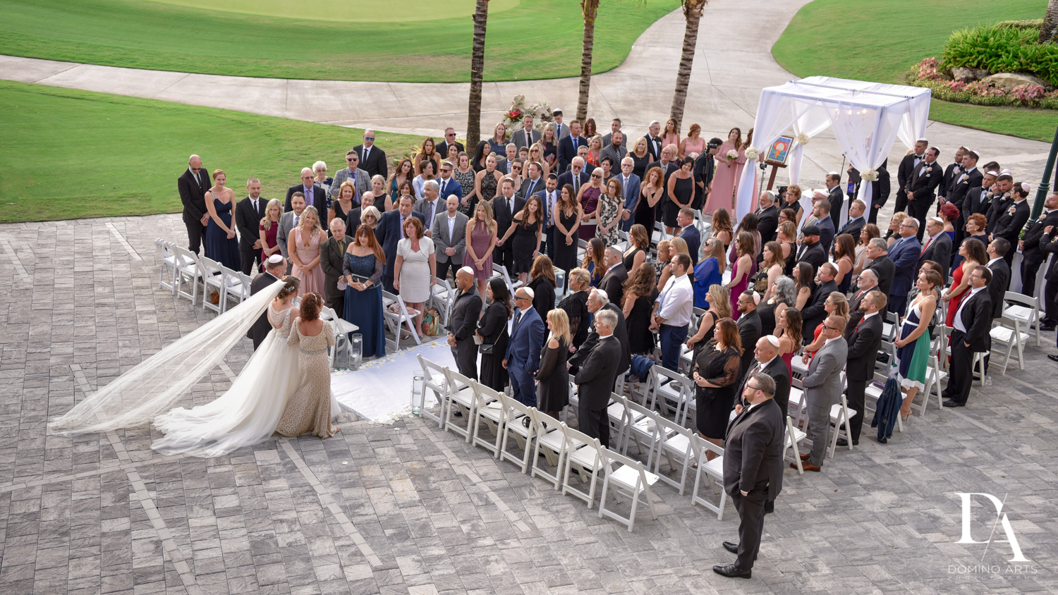 Romantic Outdoors Wedding at Woodfield Country Club in Boca Raton, Florida by Domino Arts Photography