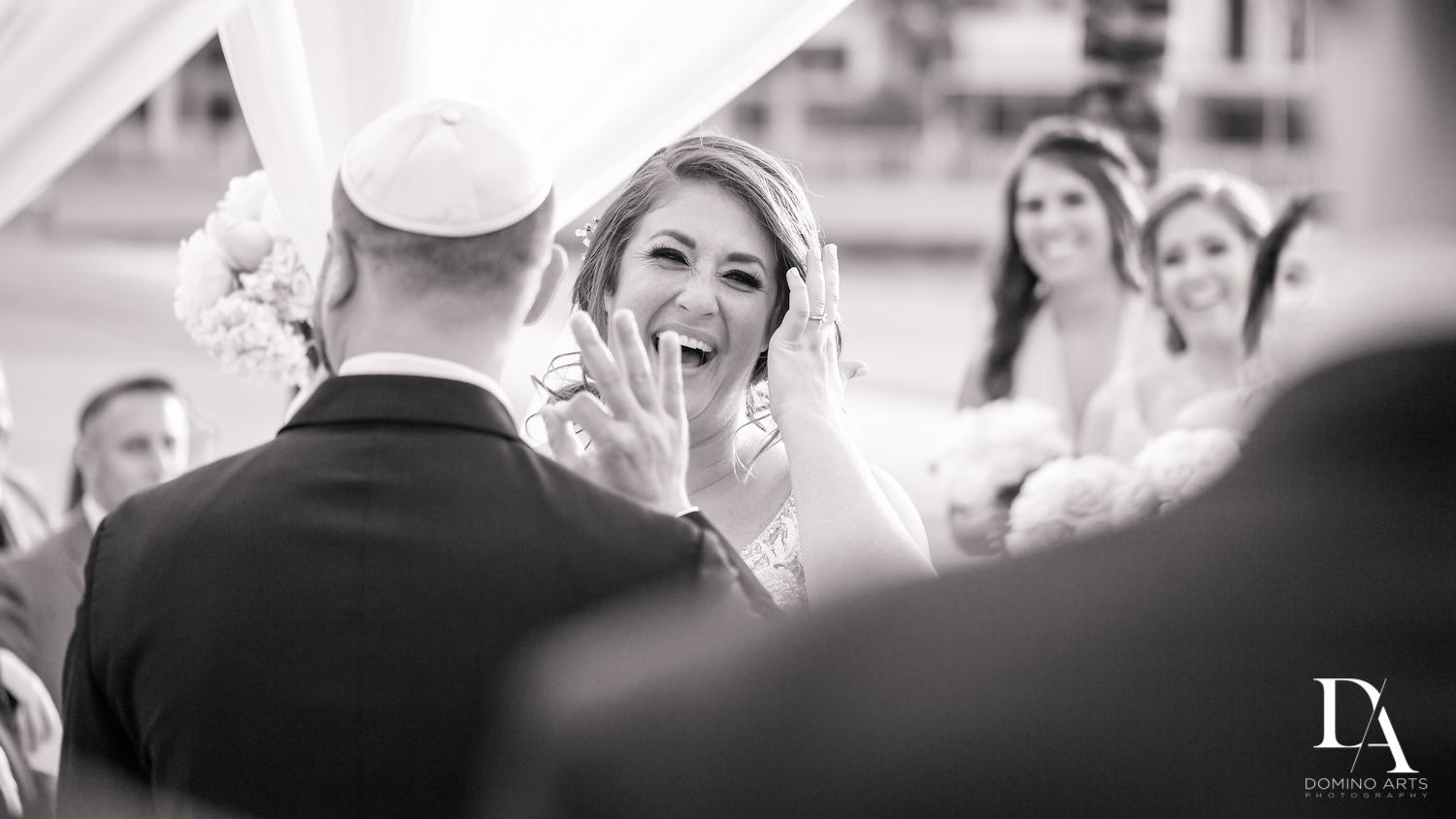Candid pictures at Romantic Outdoors Wedding at Woodfield Country Club in Boca Raton, Florida by Domino Arts Photography