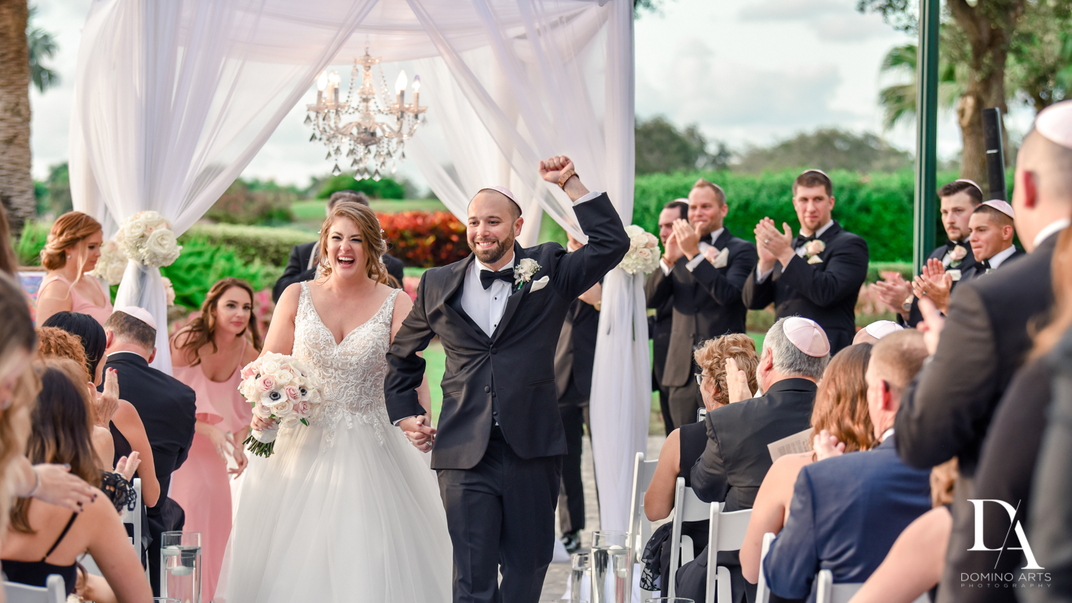 Best wedding photography at Romantic Outdoors Wedding at Woodfield Country Club in Boca Raton, Florida by Domino Arts Photography